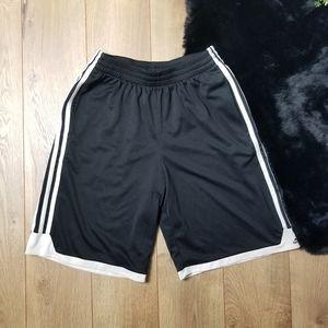 Adidas black youth shorts sports classic three
